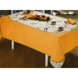 Tovaglia per 6 con tovaglioli e centro tavola