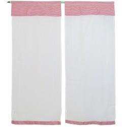 2 pannelli tende tenda regolabili Brenda rosso