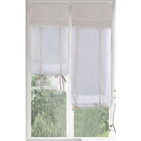 2 pannelli tende tenda regolabili 60x230 Romantic Molly