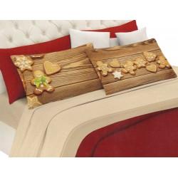 Lenzuola in flanella invernale Pensieri Delicati Biscotti