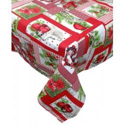 Tovaglia rettangolare per 12 Agrifoglio di Natale