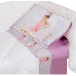 Completo lenzuola digitale Lettino Culla in cotone Biancaluna Miss terry Melia