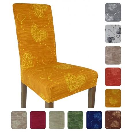Due Coprisedia millerighe Cuore Shabby per 2 sedie vari colori
