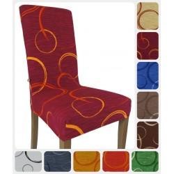 Due Coprisedia vestisedia millerighe Cerchio per 2 sedie vari colori
