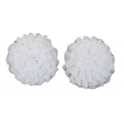 Calamita per tende Tiziana fiore 2 pezzi Bianco