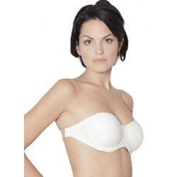 Reggiseno CLARA senza spalline schiena Nuda con fascia in silicone Nancy panna