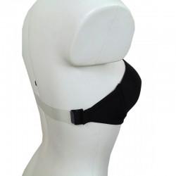 Reggiseno CLARA senza spalline schiena Nuda con fascia in silicone Nancy nero