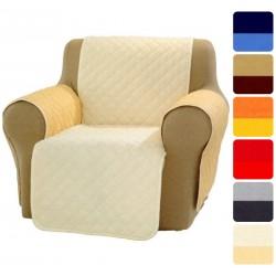 Salva divano Copri poltrona Genius trapuntato Natural