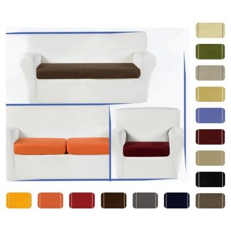 Copricuscini seduta divano Glove tessuto liscio Elasticizzato tinta unita