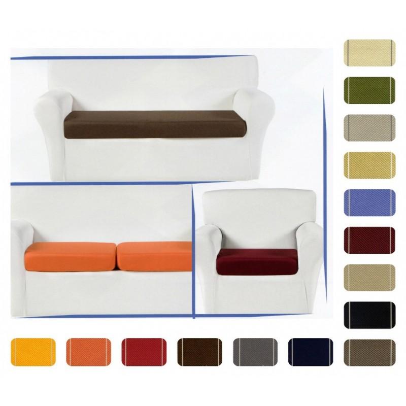Copricuscini Elasticizzati Per Divani.Copricuscini Seduta Divano Glove Tessuto Liscio Elasticizzato Tinta