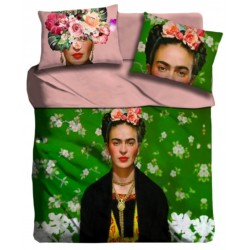 Lenzuola 2 piazze matrimoniale Frida Kahlo digitale 3D I love sleeping