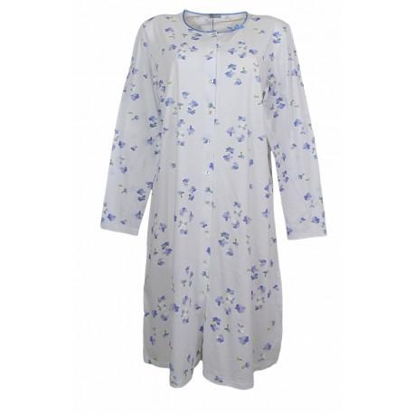 Camicia da notte in cotone Ragno aperta avanti N1115w Dafne