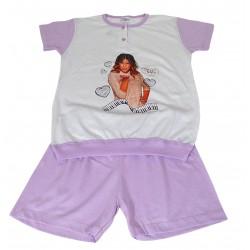 Pigiama bambina corto in cotone estivo Violetta anni 10