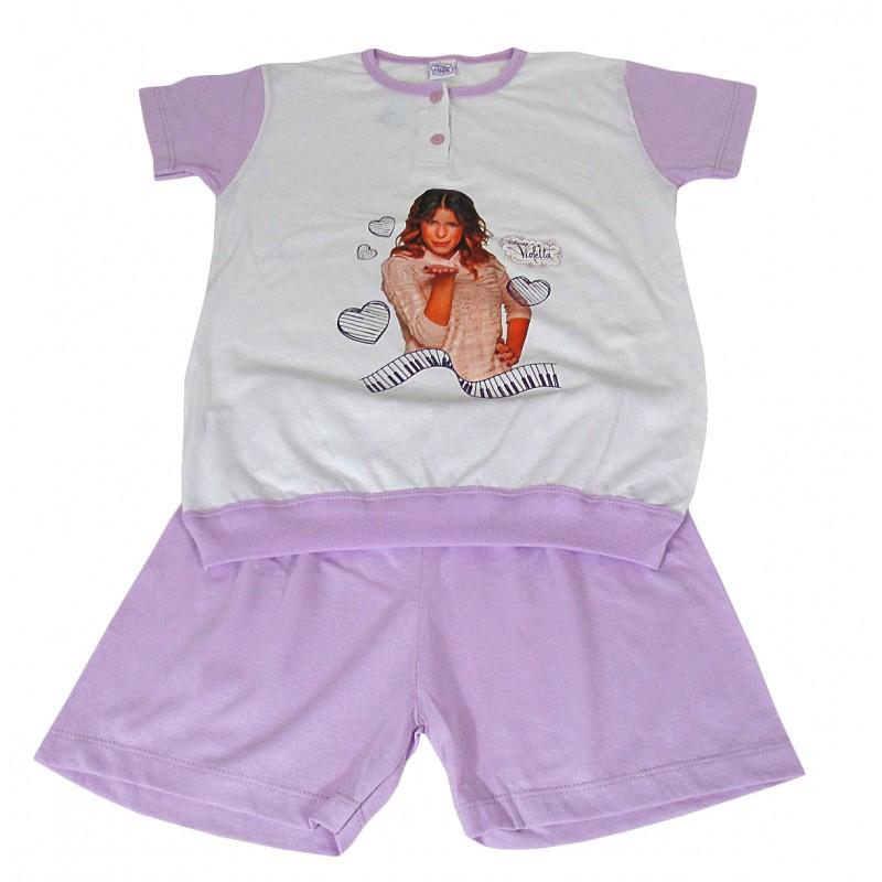 enorme sconto 54e32 8722a Pigiama bambina corto in cotone estivo Violetta anni 10 - Dolce Casa  Biancheria