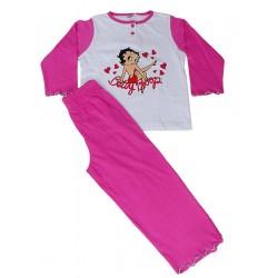 Pigiama lungo in cotone per Bambina Betty Boop Fucsia