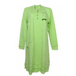 Camicia da notte donna in caldo cotone Diben Margaret verde