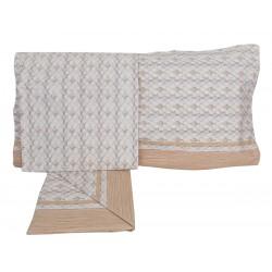 Lenzuola 1 piazza letto singolo in Cotone Antica Tessitura beige