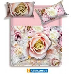 Lenzuola matrimoniale 2 piazze Biancaluna Miss Terry Antiga rose