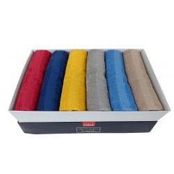 6 Asciugamani più 6 ospite Gabel Rio in spugna 12 pezzi colori Forti