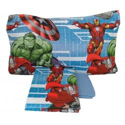 Lenzuola 1 piazza letto singolo puro cotone Marvel Avengers