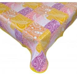 Cerata tovaglia copritavola plastificata per 6 rettangolare in pvc Cachemire