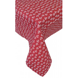 Tovaglia in puro cotone per 6 posti Adera' Maison Ancore rosso