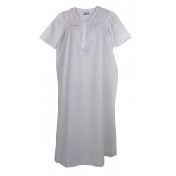 Camicia da notte donna in cotone batista Linclalor 29067 lilla