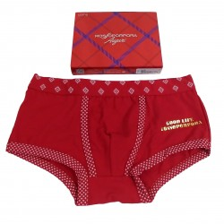 Boxer uomo RossoPorpora rosso Natale Capodanno NU222