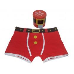 Boxer uomo Admas rosso Babbo Natale Capodanno 48138