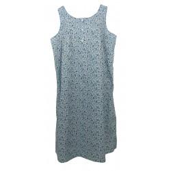 Camicia da notte donna in cotone batista Manuela 5368 Azzurro