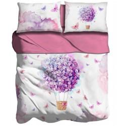 Lenzuola 2 piazze matrimoniale digitale 3D I love sleeping Ballon