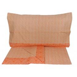 Lenzuola matrimoniale puro cotone Angel's line arancione