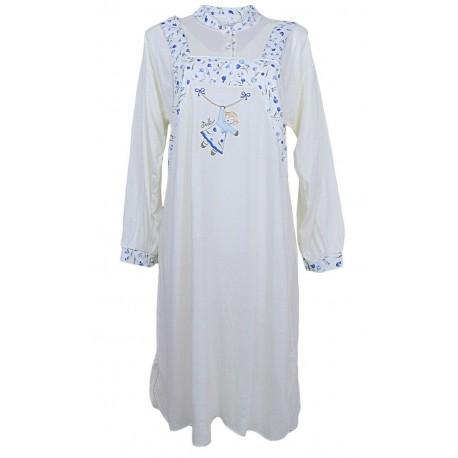 Camicia da notte Donna IN caldo cotone Invernale Fedan Susy
