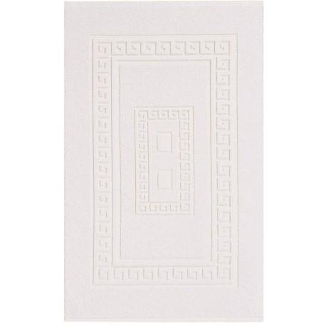 Tappeto rettangolare Torino cm 60 x cm 90 Bianco in Spugna di Cotone