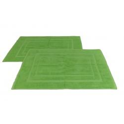 DUE Tappeti rettangolare Nature Mark cm 50 x cm 80 verde in Spugna di Cotone