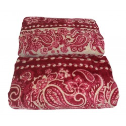 Coperta Plaid in pile Laura Biagiotti 210 x 240 bordeaux