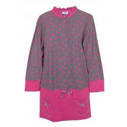 Camicia da notte donna in maglia Invernale Piccoli Segreti Ines Fucsia