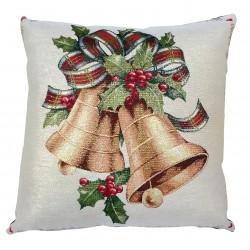 Cuscino arredo con imbottitura Maestri Cotonieri Campane di Natale