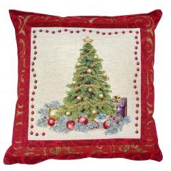 Cuscino arredo con imbottitura Maestri Cotonieri Albero di Natale rosso