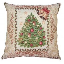 Cuscino arredo con imbottitura Maestri Cotonieri Albero di Natale oro
