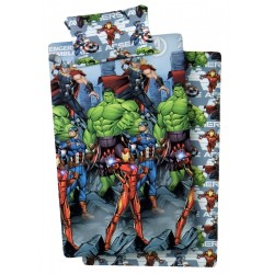 Lenzuola 1 piazza singolo in cotone Marvel Avengers