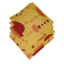6 Tovaglioli di colore giallo