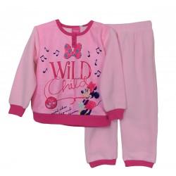 Pigiama bambina invernale in PILE Disney Minnie 1205 rosa