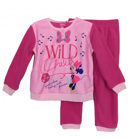 Pigiama bambina invernale in PILE Disney Minnie 1205 Fucsia
