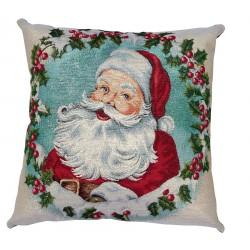 Cuscino natalizio arredo con imbottitura Maestri Cotonieri Babbo Natale