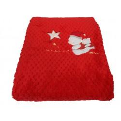 Coperta in pile coral Carrozzino per neonato Melanie Il mio primo Natale 75/2