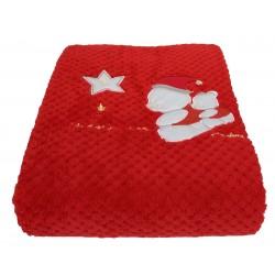 Coperta in pile coral Carrozzino per neonato Melanie Il mio primo Natale 100