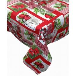 Tovaglia rettangolare natalizia Melangio Patchwork Ghirlanda di Natale
