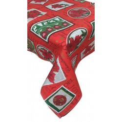 Tovaglia per 12 Natale copritavolo puro cotone Stella