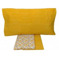 Lenzuola una piazza e mezza in Cotone Antica Tessitura giallo